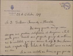 """Cartas de Emilio Serrano a Guillermo Fernández-Shaw en relación con la obra """"La balada de los vientos""""."""