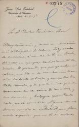 Cartas de Juan Luis Estelrich a Carlos Fernández Shaw y Cecilia Iturralde, su esposa.