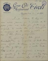 Cartas de Rafael Millán a Federico Romero, dándole el pésame por la muerte de su suegro.