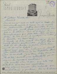 Carta de Ernesto Lecuona a Guillermo Fernández-Shaw, contándole de sus diversos proyectos para presentar en España un espectáculo musical.