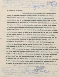"""Carta de Ernesto Lecuona a Guillermo Fernández-Shaw, proponiéndole en estreno en Madrid de """"El sombrero de Yarey""""."""