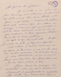 Carta de Ernesto Lecuona a Guillermo Fernández-Shaw, lamentando la enfermedad de un amigo y haciéndole unos encargos.