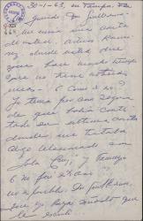 """Carta de Ernesto Lecuona a Guillermo Fernández-Shaw, hablando del posible estreno de """"Lola Cruz"""" en Madrid y lamentándose de su exilio y de la situación política en Cuba."""