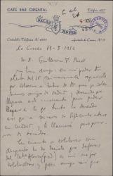 Carta de Daniel Montorio a Guillermo Fernández-Shaw sobre una posible colaboración.