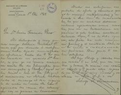 Cartas de Adolfo A. Armendáriz a Carlos Fernández Shaw.