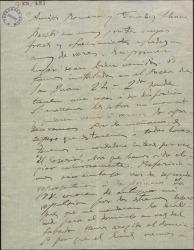 """Carta de Amadeo Vives a Federico Romero y Guillermo Fernández-Shaw, expresando su deseo de ver """"El caserío"""", próximo a estrenarse en Barcelona y haciendo elogios de Jesús Guridi."""