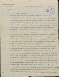 Carta de Francisco Delgado a Federico Romero, tratando extensamente de ciertas desavenencias entre ambos y proponiéndole un negocio teatral importante en Argentina para él y para Guillermo Fernández-Shaw.