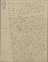 """Carta de Amadeo Vives a Federico Romero y Guillermo Fernández-Shaw, proponiendo modificaciones en """"La villana"""" y hablando de los intérpretes."""
