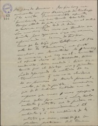 """Carta de Amadeo Vives a Federico Romero, diciéndole que le ha gustado el primer acto de """"los flamencos"""" y recomendándole que interese a Miguel Casals en la """"reprise"""" de """"La villana""""."""