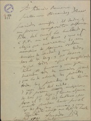 Carta de Amadeo Vives a Guillermo Fernández-Shaw y Federico Romero, presentándoles al compositor Alfonso Vila y pidiéndoles su apoyo para él.