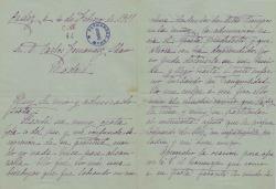 Cartas de Emma Calderón y de Gálvez a Carlos Fernández Shaw.