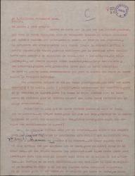 Carta de Ernesto Lecuona a Guillermo Fernández-Shaw, hablando de varios asuntos teatrales y en especial de la compañía Zuffoli.