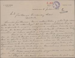 """Carta de José Vives a Guillermo Fernández-Shaw, sobre una petición de Benito Perojo para filmar """"Doña Francisquita"""", las condiciones del contrato y los plazos de ejecución."""