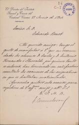 Cartas de Francisco Commeleran a Eduardo Benot.