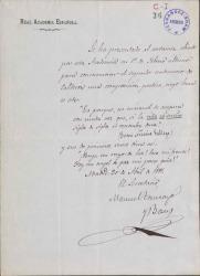 Cartas de Manuel Tamayo y Baus a Carlos Fernández Shaw.