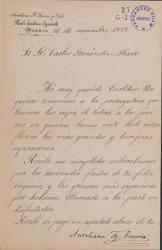 Cartas de Aureliano Fernández Guerra a Carlos Fernández Shaw.
