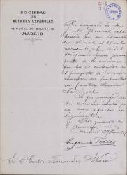Cartas de Eugenio Sellés a Carlos Fernández Shaw.