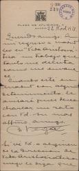 """Carta de Benigno Vega Inclán a Guillermo Fernández-Shaw, aludiendo a un trabajo aparecido en la revista """"Vida aristocrática""""."""