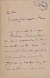 Cartas de Juan José Herranz a Carlos Fernández Shaw.