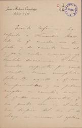 Cartas de Juan Antonio Cavestany a Carlos Fernández Shaw y Cecilia Iturralde, su esposa.