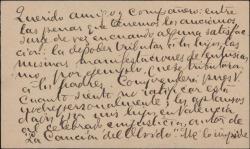 """Tarjeta de visita de Ramón de Cárdenas a Guillermo Fernández-Shaw, dándole la enhorabuena por el éxito de """"La canción del olvido""""."""