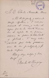 Cartas de Eduardo de Hinojosa a Carlos Fernández Shaw.
