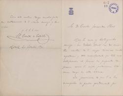 Cartas del Conde de Cedillo a Carlos Fernández Shaw.