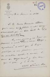 Cartas de Antonio Sánchez Pérez a Carlos Fernández Shaw.