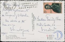 Tarjeta postal de Miquel Saperas a Guillermo Fernández-Shaw, comunicándole un éxito obtenido por el Orfeó Català desde San Sebastián.
