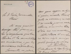 Cartas de Emilio Thuillier a Carlos Fernández Shaw.