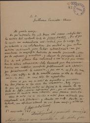 """Carta de Enrique Ruiz de la Serna a Guillermo Fernández-Shaw, felicitándole por el éxito de """"Juan Lucero"""" e insistiendo en sus peticiones de ayuda."""