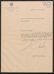 """Carta de Eduardo Aunós a Guillermo Fernández-Shaw, remitiéndole una carta del Director General de Cinematografía comunicando que ya está autorizado el rodaje de """"Mar de fondo""""."""