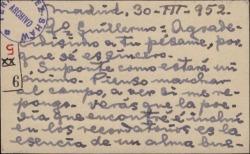 Tarjeta de visita de Luis Mesonero Romanos a Guillermo Fernández-Shaw, agradeciendo un pésame.