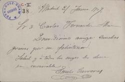 Cartas de Emilio Carreras a Carlos Fernández Shaw.