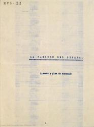 La canción del pirata : zarzuela en tres actos, en verso / libro de Luis Tejedor y Rafael Fernández-Shaw ; música del Mtro. Jesús Guridi.