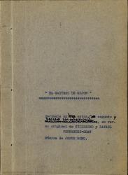El gaitero de Gijón : zarzuela en tres actos, segundo y tercero sin interrupción, en verso / original de Guillermo y Rafael Fernández-Shaw ; música de Jesús Romo.