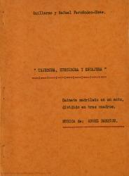 Tejedora, zurcidora y encajera : sainete madrileño en un acto, dividido en tres cuadros / Guillermo y Rafael Fernández-Shaw ; música de Ángel Barrios.