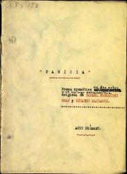 Caricia : poema dramático en dos actos y un epílogo estrambótico / original de Rafael Fernández-Shaw y Eduardo Manzanos.