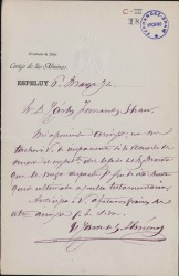 Cartas del Conde de las Almenas a Carlos Fernández Shaw.
