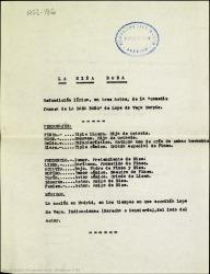 """La niña boba : refundición lírica, en tres actos, de la """"Comedia famosa de La dama boba"""" de Lope de Vega Carpio / [Rafael Fernández-Shaw]."""
