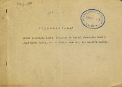 Cimborriada : breve pincelada local / original de Rafael Fernández-Shaw y José María Laita ; con un numero musical del maestro Parada.