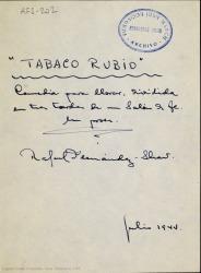 Ver ficha de la obra: Tabaco rubio