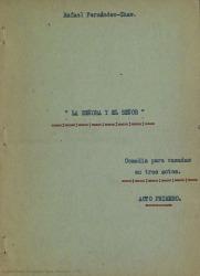 La señora y el señor : comedia para casadas en tres actos / Rafael Fernández-Shaw.