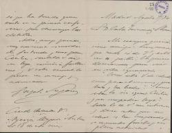 Cartas de José Rubaudonadeu-Corcelles a Cecilia Iturralde, viuda de Carlos Fernández Shaw, e hijos.