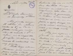"Cartas de Cecilia Böhl de Faber ""Fernán Caballero"" a Carlos Fernández Shaw."