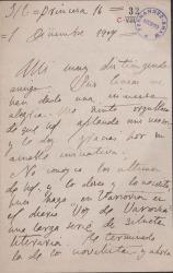 Cartas de Sofía Casanova a Carlos Fernández Shaw.