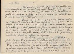 Carta manuscrita de Marcos Redondo a Rafael Fernández-Shaw en la que le comenta con detalle sus gestiones para el montaje de una obra, y le pide su opinión.