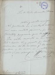 Cartas de Juan Comba a Carlos Fernández Shaw.