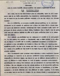 """Argumento (historia) para la nueva versión cinematográfica del sainete madrileño titulado """"La Revoltosa"""" / Rafael Fernández-Shaw."""