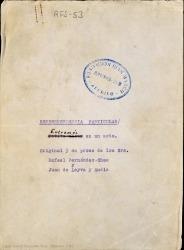 Correspondencia particular : entremés en un acto / original y en prosa de Rafael Fernández-Shaw y Juan de Leyva y Andía.